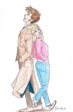 Dr Who Art | doctor who burdge fan art tenth doctor ten and rose 10th doctor david ...