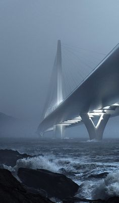 Zaha Hadid wins contest for landmark bridge across Taipei's Tamsui River.