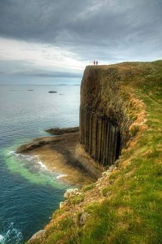 Isle of Staffa the cliffs above Fingal's Cave.