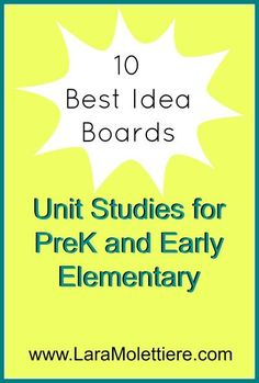 Need some #homeschool inspiration? Top 10 Pinterest boards for unit study ideas for PreK and Early Elementary ages.  #ihsnet