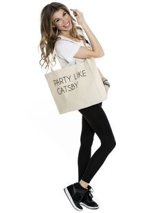 PARTY LIKE GATSBY TOTE