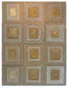 Priscilla Robinson: handmade paper of hemp, flax & reflector beads