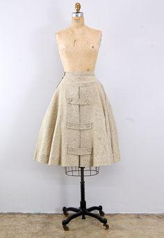vintage 1940s skirt // Across the Bank Skirt