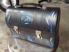 <3 thanks pinstripin' charlie <3 #vintage #lunchbox #trashy betty #pinstripe