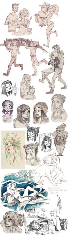 sketch dump - OCs by Fukari on DeviantArt