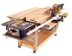 I like the table saw in the end of the workbench