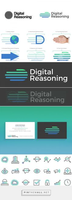 Brand New: New Logo and Identity for Digital Reasoning by Golden Spiral - created via https://pinthemall.net