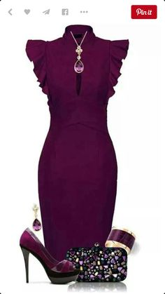 Pretty plum outfit - high heels 73bff4d601a5
