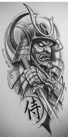 Japanese Tattoo Art, Japanese Tattoo Designs, Japanese Sleeve Tattoos, Tattoo Designs Men, Japanese Warrior Tattoo, Samurai Warrior Tattoo, Warrior Tattoos, Samurai Tattoo Sleeve, Irezumi Tattoos