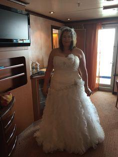 My wedding look! Taken in my suite before the wedding.