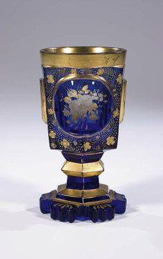 262: Becher Bohemia Glass Beaker Vintage Old Antique : Lot 262