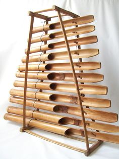 vintage bamboo wood xylophone musical by RecycleBuyVintage on Etsy