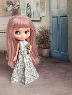Dress for Blythe and Pullip. I'm old in vintage style. Vintage Fashion, Vintage Style, Blythe Dolls, Disney Characters, Fictional Characters, Disney Princess, Etsy, Dresses, Art