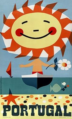 #ridecolorfully through beautifully bright Portugal! {vintage travel poster}