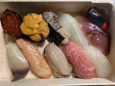 Omiyage box sushi to take home.