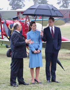 BLENHEIM, NEW ZEALAND - APRIL 10: Prince William, Duke of Cambridge and Catherine, Duchess of Cambridge visit Omaka Aviation Heritage Centre on Day 4 of a Royal Tour to New Zealand on April 10, 2014 in Blenheim, New Zealand. The Duke and Duchess of Cambridge are on a three-week tour of Australia and New Zealand, the first official trip overseas with their son, Prince George of Cambridge.