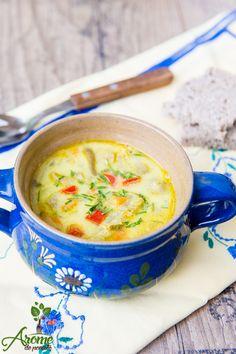 Anul trecut, una dintre cititoarele blogului Arome de Poveste mi-a trimis una dintre retetele ei preferate, si anume aceasta reteta de ciorba de burta de post. Adriana B. iti multumesc pentru reteta si pentru cuvintele… Vegan Recipes, Cooking Recipes, Cheeseburger Chowder, Tofu, Blog, Recipes, Romania, Kitchens, Vegane Rezepte