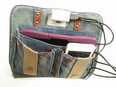 Bolso reciclado en cargador de viaje   maletín cargador de viaje