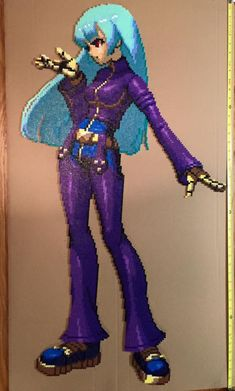 Kula Diamond - The King of Fighters perler bead design (42 inches tall by 20 inches wide) by Amber--Lynn