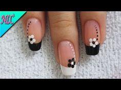 Acrylic Nail Designs, Acrylic Nails, Edgy Nails, Flower Nail Art, Aesthetic Beauty, French Nails, White Nails, Short Nails, Spring Nails
