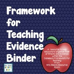 Are you evaluated using the Framework for Teaching? Do you need help keeping track of artifacts and evidence for the four domains? This product is for you! The Framework for Teaching Evidence Collection Binder will help you gather and organize your Organized Teacher, Teacher Binder, Teacher Organization, Charlotte Danielson, Danielson Framework, Wisconsin, Meant To Be, Reflection, Divider