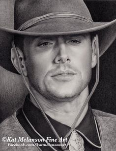 Jensen Ackles as Dean Wincherster from my personal fav episode of the TV series Supernatural Frontierland Graphite drawing on Bristol Smooth Finished si. Supernatural Fan Art, Graphite Drawings, Dean Winchester, Jensen Ackles, Pictures To Draw, Great Movies, Perfect Man, Digital Image, Deviantart
