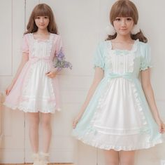 Japanese sweet lolita maid dress