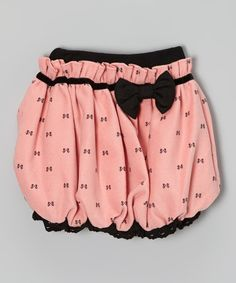 Pink & Black Bow Bubble Skirt - Toddler & Girls | Daily deals for moms, babies and kids