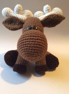 Marley Moose  see etsy shop: OfftheHookMamma.etsy.com Marley Moose, Amigurumi moose, crochet doll, made in canada, canadian mascot.