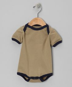 Another great find on #zulily! Itty Bitty Organics Olive & Navy Organic Bodysuit - Infant by Itty Bitty Organics #zulilyfinds