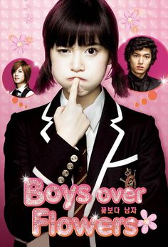 BOYS OVER FLOWERS ♥ Geum Jan-Di, a poor girl attending the elite Shin Hwa High who is terrorised by the leader of F4 (the four richest and most popular boys at the school) Gu Jun Pyo.  Personal review: 7.5/10 ★★★★★ #BoysOverFlowers #Kdrama