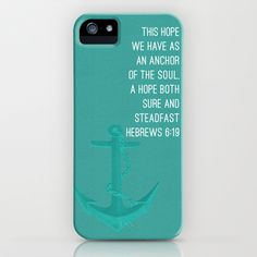 Hebrews 6:19 Anchor of the Soul - Turquoise iPhone & iPod Case by duly noted design - $35.00