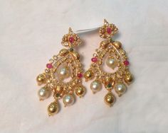 Earrings / Jhumkis / Chandbali - Gold Earrings / Jhumkis / Chandbali (ER2922CH2277) at USD 1,681.39 And EURO 1,536.23