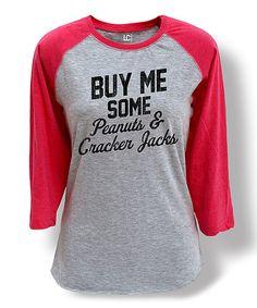 Athletic Heather & Hot Pink 'Buy Me Some' Raglan Tee - Women