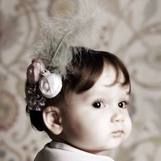 Baby flower / feather headbands etsy