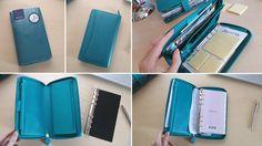 Filofax Saffiano Compact ZIP, colore Aquamarine, che come si può vedere uso prevalentemente come portafoglio, pur avendo lasciato gli anelli per poter scrive...
