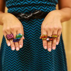 Pow! Shrinky Dink Rings are fun for any age.