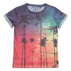 Indian Blue Jeans - T-shirt Beach tropical print