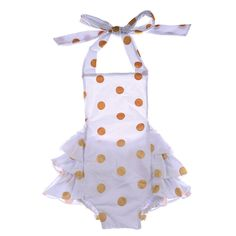 2016 New Design Cheap Baby Toddler Clothing Wholesale Gold Polka Dots White Baby Bubble Romper For Young Babies Girls And Boys