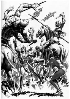 Thomas Yeates-John Carter and Dejah Thoris Sci Fi Comics, Fantasy Comics, Sci Fi Fantasy, Science Fiction Art, Pulp Fiction, Fantasy Illustration, Graphic Illustration, A Princess Of Mars, Black White