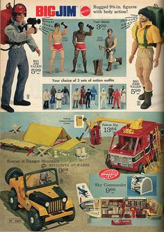 1974 - Big Jim Action Figures Toys by Mattel - (Sears?) Catalog Advertisement