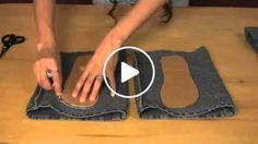 Aprenda a transformar o seu jeans em lindo chinelos
