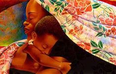 "artist Keith Mallett, ""In Mother's Hands"""