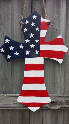 American Flag Cross Door Hanger on Etsy, $35.00