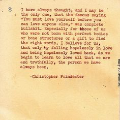"""""""The universe and her, and I"""" Poem #41, by Christopher Poindexter."""