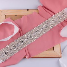 New Style Hot Sales Elegant Cheapest Wedding Sash Bridal Belt Rhinestone Beaded Crystal Sequined Wedding Dress Bridal S04 Online with $62.82/Piece on Yupan's Store | DHgate.com