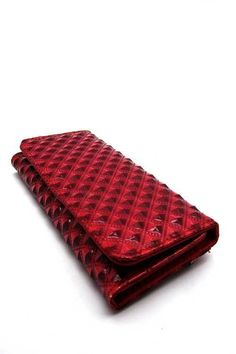Red Textured Checkbook Wallet  #DiscountedPalace #Checkbook