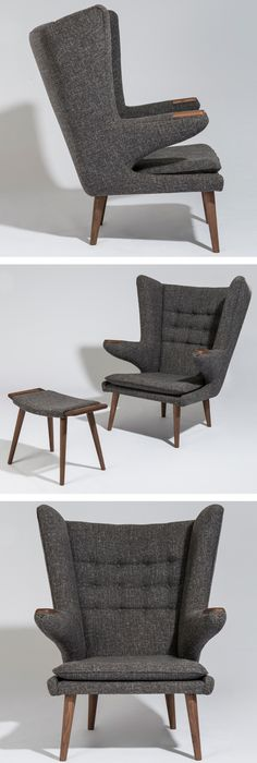 Mist comfortable chair in the world: Hans Wegner Style Papa Bear Chair