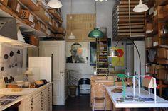 Achille Castiglione's studio in Milan