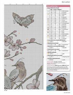 ru / Photo # 1 - a - Cross Stitch Bird, Cross Stitching, Cross Stitch Embroidery, Hand Embroidery, Cross Stitch Patterns, Bird Feathers, Decorative Pillows, Needlework, Diy And Crafts